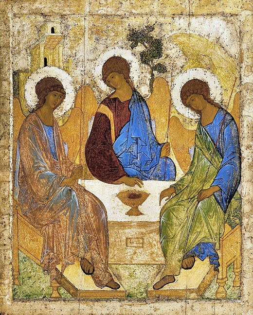 Andrei Rublev's famous icon of the Holy Trinity (c. 1410; Tretyakov Gallery, Moscow)