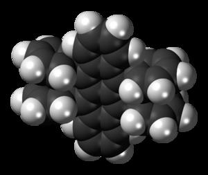 Rubrene - Image: Rubrene 3D spacefill