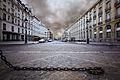 Rue Soufflot as seen from the Panthéon, Paris 6 August 2013.jpg