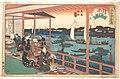 Ryogoku Yanagibashi (Kawachiya)-江戸高名会亭尽 両国柳橋 河内屋-Tea-house at the Willow Bridge MET DP123292.jpg
