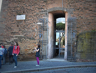 Gemonian stairs - Via S. Pietro in Carcere close to the Campidoglio