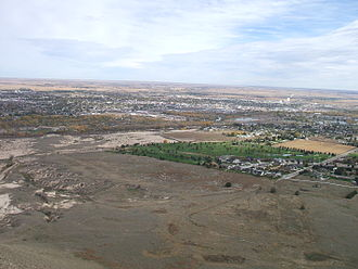 Scottsbluff, Nebraska - Overlooking Scottsbluff (to the left) and Gering (to the right) from Scotts Bluff National Monument