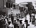 SCHOOLCHILDREN WALKING IN THE FUNERAL PROCESSION FOR YEHUDA LEIB PINSKER IN TEL AVIV. ילדים הולכים אחר ארונו של יהודה לייב פינסקר בתל אביב.D836-076.jpg