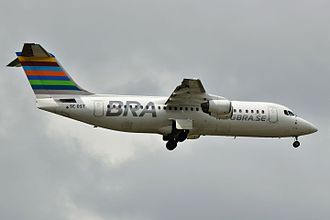 BRA Braathens Regional Airlines - BRA Avro RJ100 operated by Braathens Regional Aviation