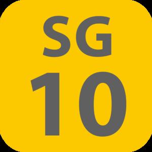 Shimo-takaido Station - Image: SG 10 station number