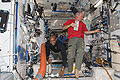 STS-129 Three astronauts at Harmony.jpg