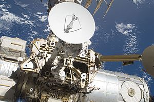 Space research service - Ku band-antenna onboard ISS