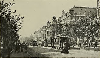 Ring road - Vienna's Ring Road with the opera house, in 1905