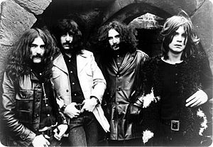 Black Sabbath - Black Sabbath in 1970. From left to right: Geezer Butler, Tony Iommi, Bill Ward, Ozzy Osbourne.