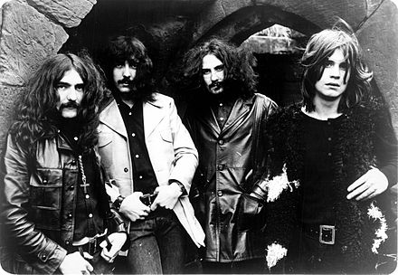 English rock band Black Sabbath (pictured) took their group's name from the film's English title. Sabs.jpg