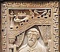 Sacramentario gregoriano della chiesa tridentina, VIII-IX secolo, avorio, 02 pavone.jpg