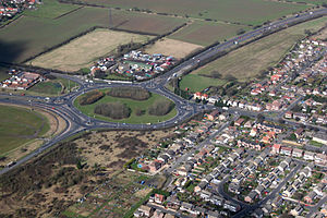 A130 road - Sadlers Farm Roundabout