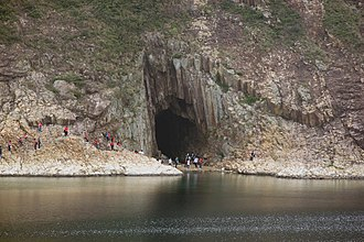 High Island, Hong Kong - Sea cave on High Island, next to the High Island Reservoir East Dam.