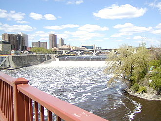 Hydropower - Saint Anthony Falls, United States; hydropower was used here to mill flour.