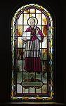 Saint Paul Catholic Church (Westerville, Ohio) - stained glass, arcade, Saint Francis de Sales.jpg