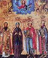 Saints Maksim, Angelina, Jovan and Stefan Branković, by Andreja Raičević.jpg