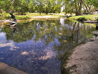 Salado Springs spring in Texas, United States of America