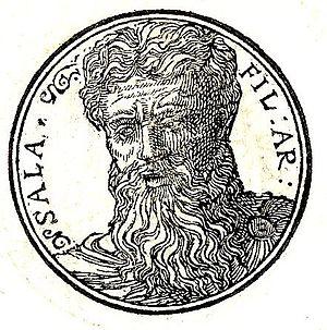 Salah (biblical figure) - Portrait from Promptuarii Iconum Insigniorum (1553)