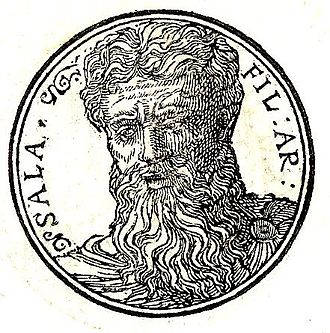 Salah (biblical figure) - Portrait from Promptuarii Iconum Insigniorum (1553)