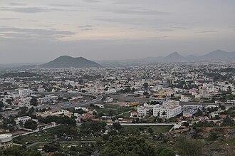 Salem district - View of Salem city