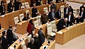 Salome Zourabichvili in Parliament to Announce SoE.jpg