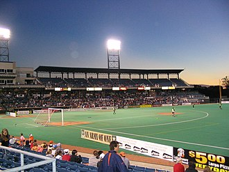 Syracuse Salty Dogs - The Syracuse Salty Dogs vs. the Atlanta Silverbacks in 2004 at Alliance Bank Stadium in Syracuse, NY
