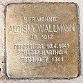 Salzburg - Gnigl - Eichstraße 43 - Stolperstein Aloisia Wallmann.jpg