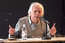 Samir Amin at the 2012 Subversive Festival (en) in Zagreb.
