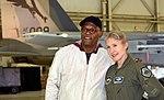 Samuel L. Jackson and Jeannie Leavitt at Edwards AFB.jpg