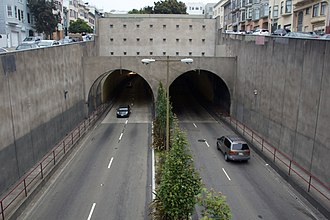 Broadway Tunnel (San Francisco) - One of the entrances to the tunnel