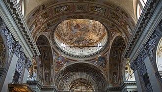 Mattia Bortoloni - Image: San Nicola da Tolentino (Venice) Gloria di San Gaetano di M. Bortoloni