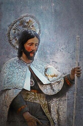 Casamassima - San Rocco wearing his silver mantle (Photo: Raffaele Magnifico)