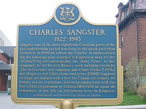 Charles Sangster - Image: Sangsterplaque