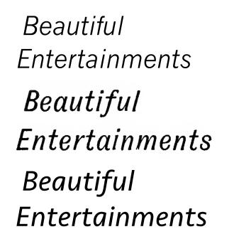 Oblique type - Image: Sans serif italics