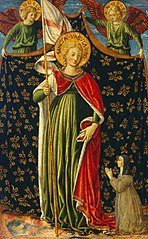 Saint Ursula with Two Angels and Donor