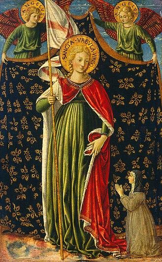 Benozzo Gozzoli - St. Ursula, National Gallery of Art, 1455–1460