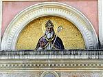 Santa Maria Assunta, facciata, lunetta portale di sinistra (Mogliano Veneto).JPG