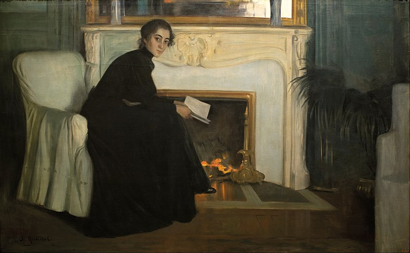 File:Santiago Rusiñol - Romantic Novel - Google Art Project.jpg