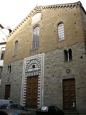 Santo Stefano al Ponte - Façade of Santo Stefano at Ponte showing the original marble-work around the portal