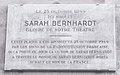 Sarah Bernhardt birthplace plaque - 5 rue de lÉcole de Médecine, Paris 6.jpg