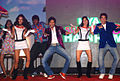Sarah Jane Dias, Riteish Deshmukh, Tusshar Kapoor, Neha Sharma at the Audio release of 'Kyaa Super Kool Hain Hum' 05.jpg
