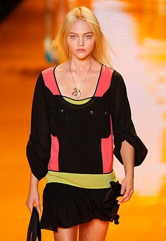 Sasha Pivovarova - Sasha Pivovarova modeling DKNY by Donna Karan