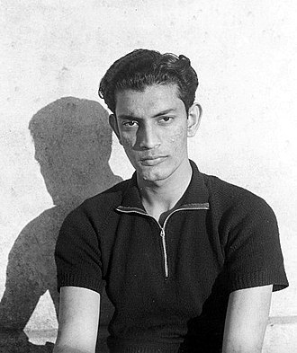 Satyajit Ray - 22 years old Ray at Santiniketan