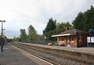 Saunderton railway station Railway station in Buckinghamshire, England