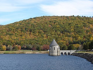 Saville Dam dam in Barkhamsted, Connecticut