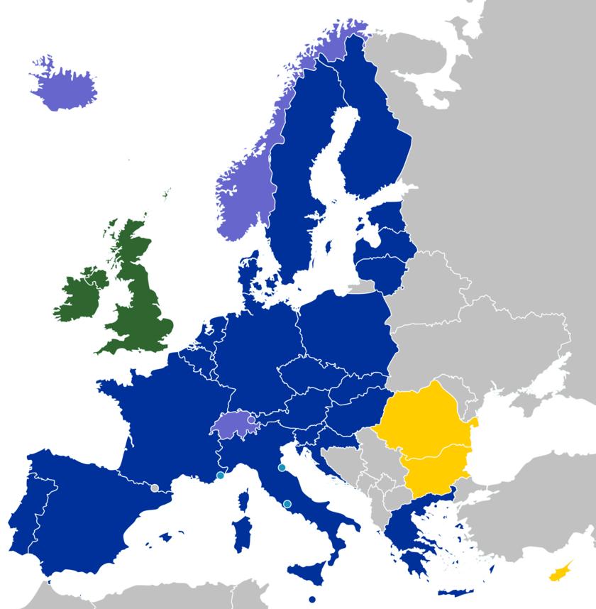 Current Schengen Area Countries