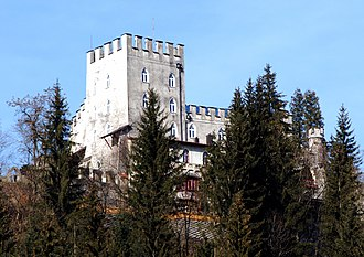 Itter Castle - Itter Castle, view from south, February 2010