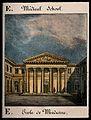 School of Medicine, Paris; main entrance. Coloured lithograp Wellcome V0014277.jpg