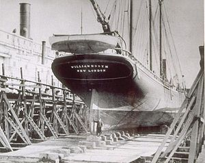 Bethlehem Atlantic Works - Schooner William Booth at Atlantic Works in 1910