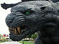 Sculpture of the Carolina Panthers at Bank of America Stadium Charlotte (NC).jpg